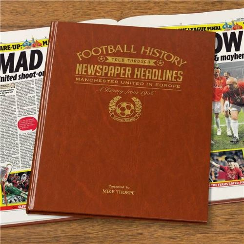 Personalised Manchester Utd In Europe Football Book
